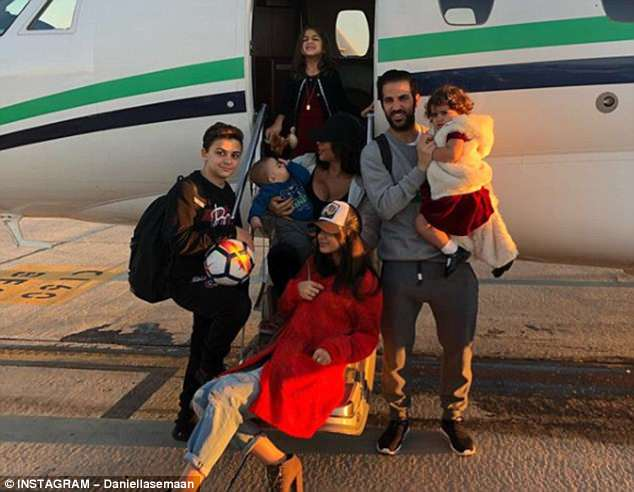They have a large family - two children from Semaan's former marriage, and three infants
