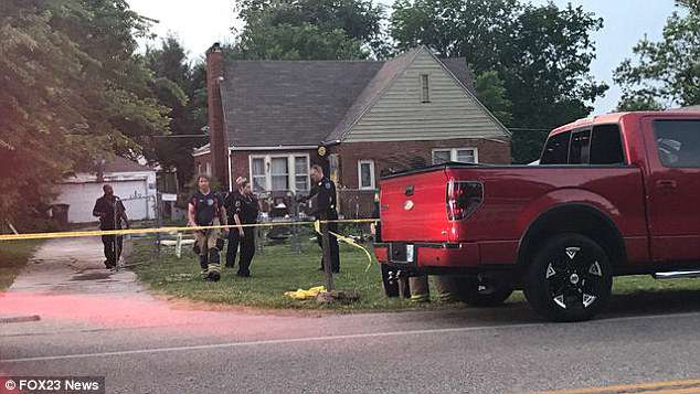 Police found the kitchen on fire and the 11-year-old suffering multiple stab wounds