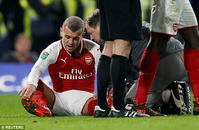 Wilshere is renowned for his injuries but has managed to play a massive 38 times this season