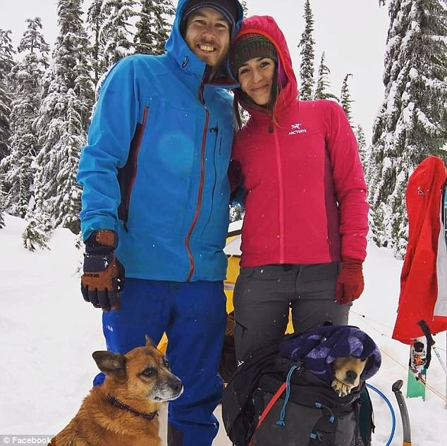 Jenkins, pictured with his girlfriendShawna Lamoree, who was climbing with him when he fell