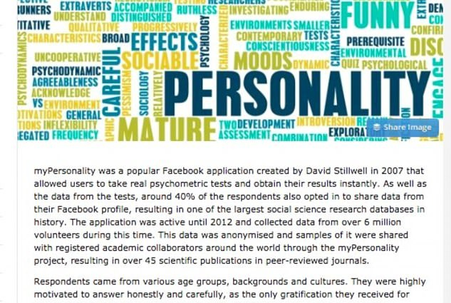 Three million Facebook users had intimate details exposed as a new data protection scandal has hit the social media platform. The quiz, called myPersonality, is an app which collected highly sensitive data, including psychometric test results