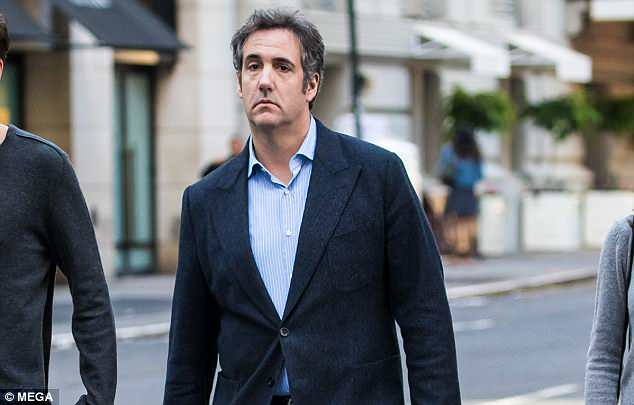 New claims: A source tells DailyMail.com that a Middle Eastern investor who met Michael Cohen at Trump Tower says Trump's attorney demanded 'millions of dollars' from him for 'Trump family members'. The investor did not make any money transfer