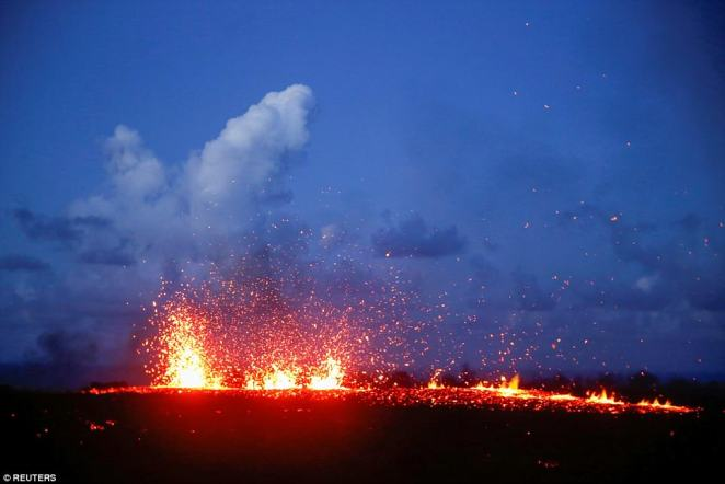 A recent lowering of the lava lake at the volcano's Halemaumau crater 'has raised the potential for explosive eruptions' at the volcano