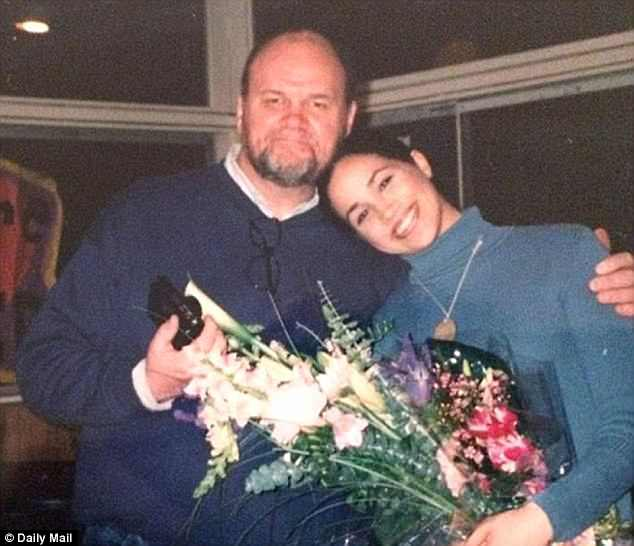 Meghan Markle with her father, Thomas Markle when she was younger. There is no major doubt over whether he will walk his daughter down the aisle at St George's Chapel in Windsor
