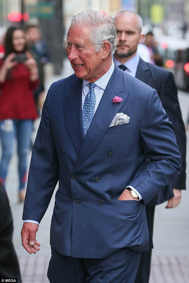 It was business as usual for Charles who is counting down to the wedding of his younger son at Windsor on Saturday