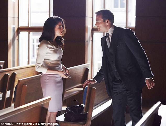Huge popularity: Meghan gained huge popularity as paralegal Rachel Zane on the hit show