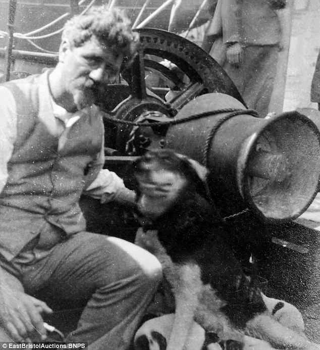 Ernest Joyce pictured on the Aurora, moments after making it back to civilisation in 1917