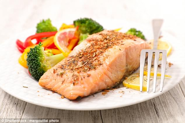 Experts say that the omega-3 fatty acids in oily fish, such as salmon, help to prevent a range of conditions affecting the heart, and adults are recommended to eat two servings per week