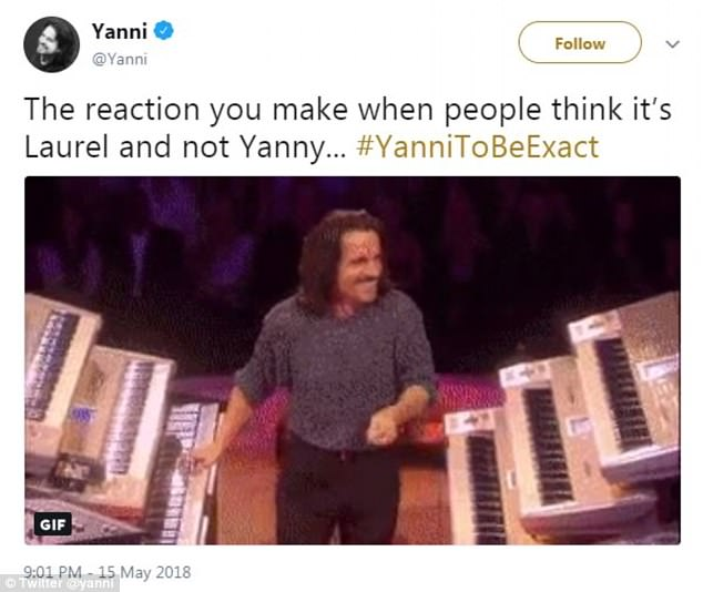 Yanni pronounces his own name as 'yah-knee', while the recording sound like 'yeah-knee'