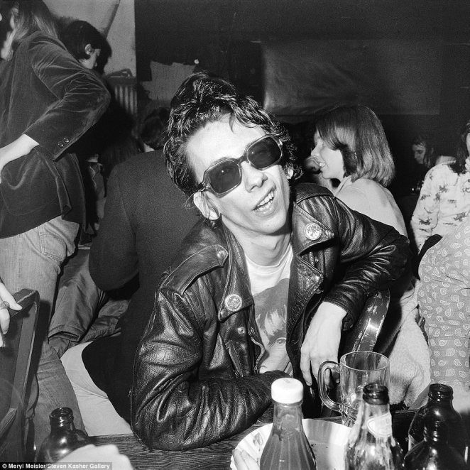 The late Stiv Bators, who was one of the leaders of The Dead Boys, was also a regular at CBGB with the band. Meisler captured the above image of him and said his death in the 1990s was truly 'a loss to music and culture'