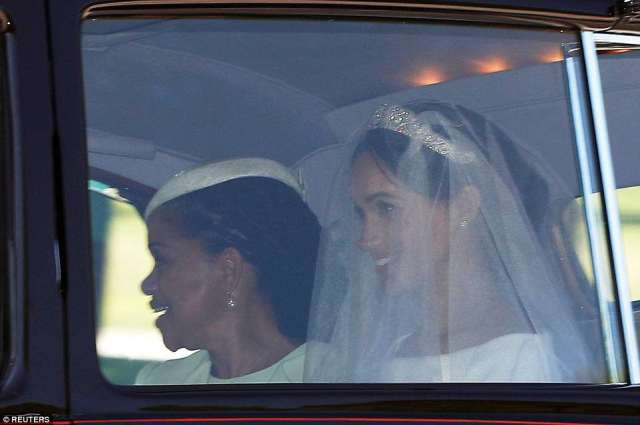 Mother and daughter drove away in a Rolls-Royce Phantom IV, which was built and delivered to the Queen in 1950 and used by Kate Middleton for her trip to Westminster Abbey when she married William seven years ago