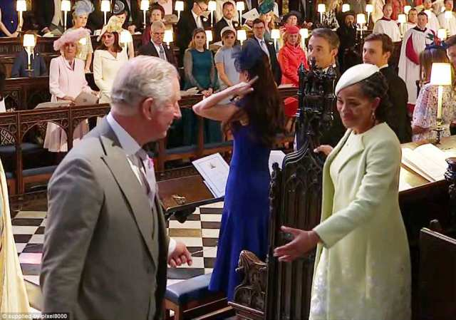 Congratulating Prince Charles, Doria could be seen taking Prince Charles by the arm as they went to sign the register