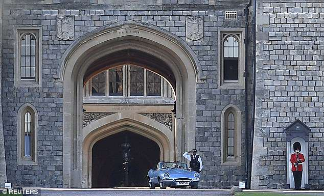 They travelled in a converted electric car to the English country house, which stands in the home park of Windsor Castle and is part of the Crown Estate