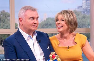 Eamonn Holmes and Ruth Langsford on This Morning. Holmeshas told how he has been liberated by a hearing aid after going through the 'manopause'