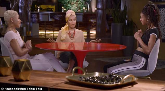 Family affair: The 10-episode Facebook Watch series is hosted by the teen, her mom Jada Pinkett Smith, 46, and grandmother Adrienne Banfield-Jones, 64
