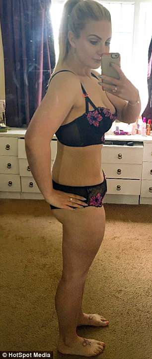 She has lost a total of 7st 2lbs after joining slimming world