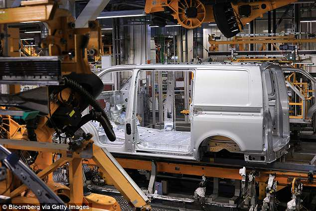 Apple will equip the new vans, which will be made by VW (pictured) with its self-driving tech. Reports claim that luxury car brands BMW and Mercedes rejected the advances of Apple
