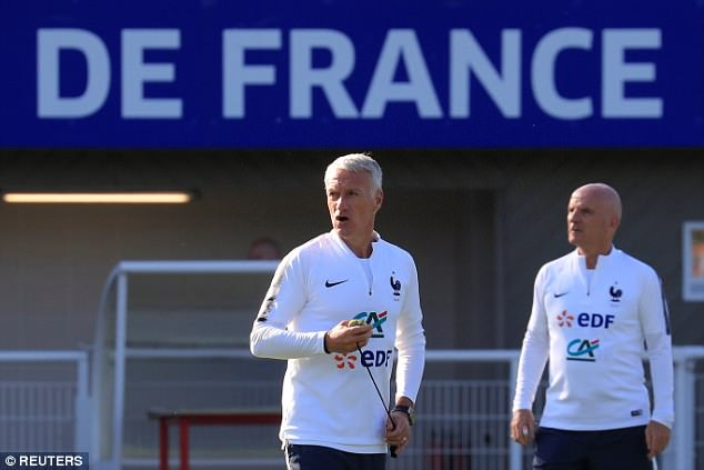 France head coach Didier Deschamps has packed his players' schedules ahead of next month