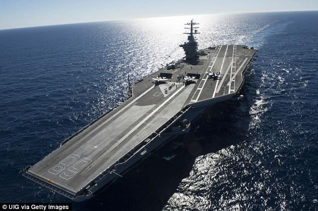 On November 14, the Princeton again detected an AAV around 11am and called it in two F/A-18 Hornets that happened to be returning to the USS Nimitz (pictured) from a training exercise