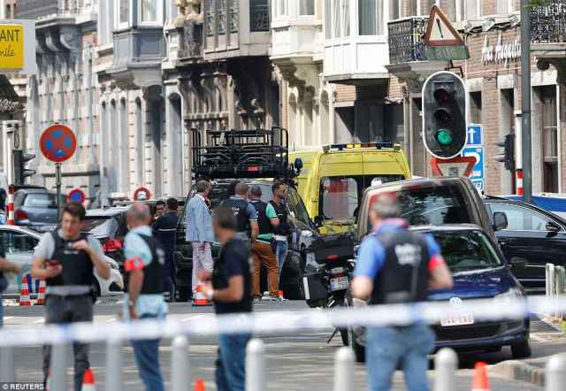 Taken down: The kidnapper was 'neutralised' at 11am, effectively ending the siege