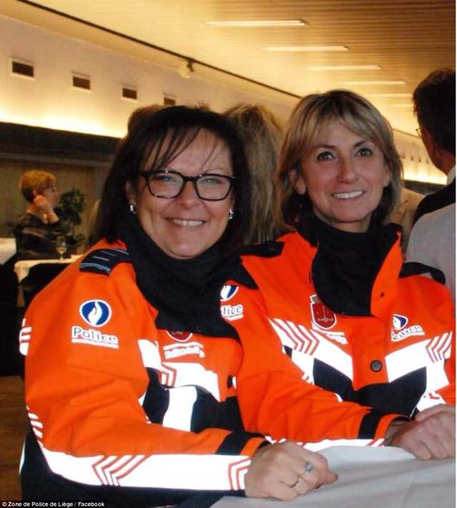 Soraya Belkacemi, left, and Lucile Garcia, right, were hailed as wonderful mothers and police officers by their colleagues after being killed in today's attack