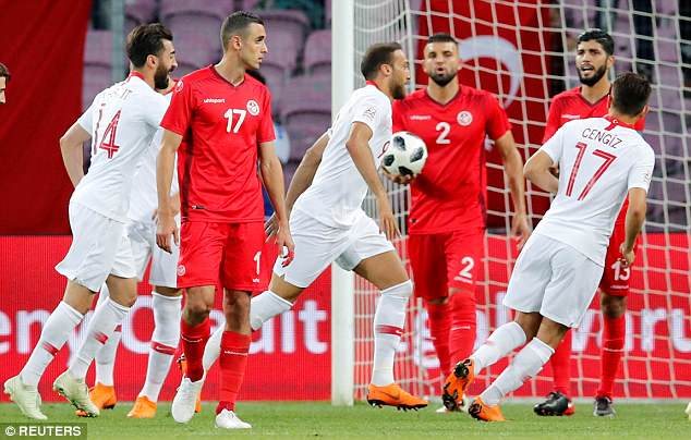 Tosun opened the scoring for Turkey against Tunisia just nine minutes into the second half