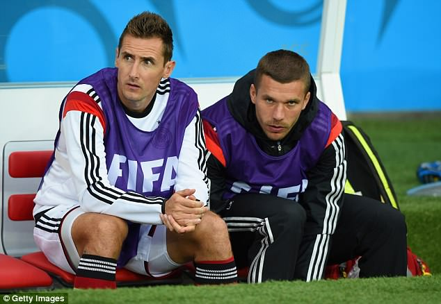 Many of Germany's 2014 winners, including Miroslav Klose and Lukas Podolski, are retired