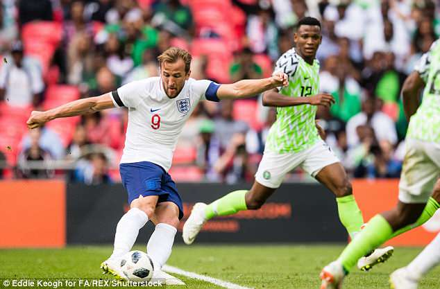 Captain Harry Kane collected Sterling's pass before firing a low shot into the net on 39 minutes