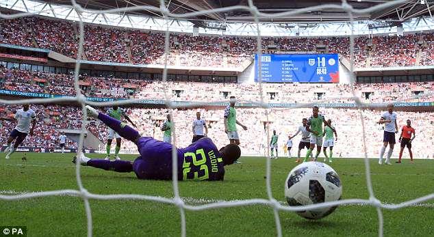 Sterling was involved in the move which saw England score their second goal before half time