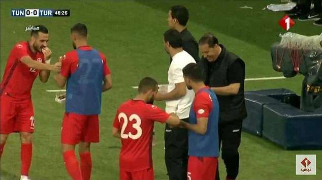 Hassen going down was the signal for Tunisia's players to rush to the sidelines to eat dates and drink water as they broke their fast at sunset during the friendly with Turkey