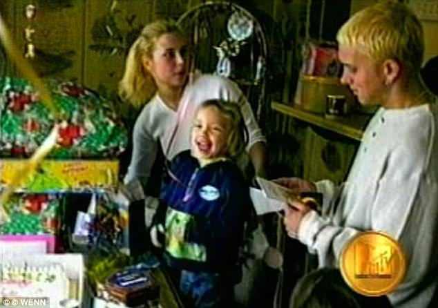 Eminem with his ex-wife Kim and Hailie Jade Mathers