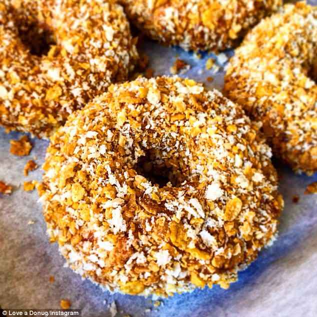 Donugs are made from free range chicken, coated with crispy cornflakes andpanko crumb
