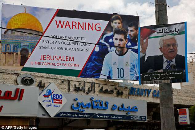 The proposed friendly match between Israel and Argentina was denounced by Palestinians
