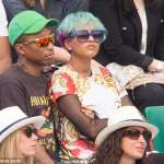 Weird together: Pharrell Williams and Wife in Paris