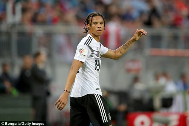 Sane was axed from the final Germany squad which will be making its way to Russia soon