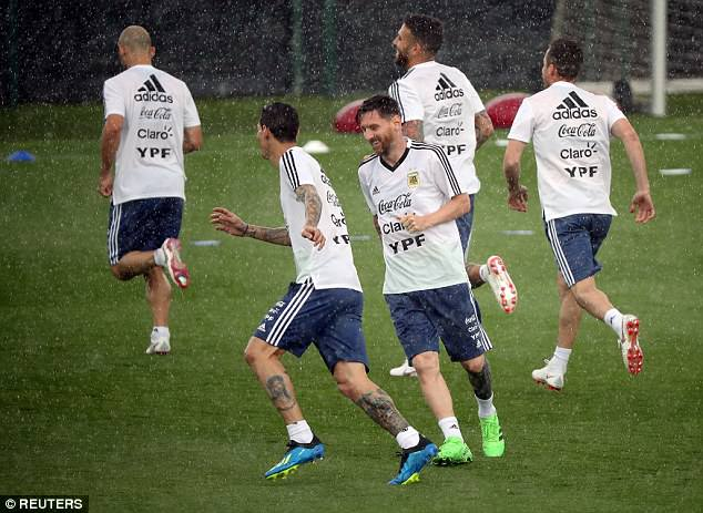 Lionel Messi and his Argentina team-mates continued their preparations for the World Cup