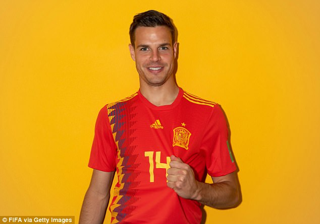 Chelsea star Cesar Azpilicueta looks excited for his second appearance at a World Cup finals
