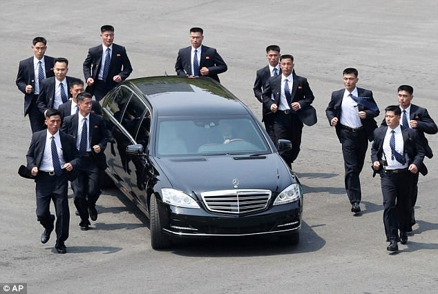 The bodyguards made headlines in April when video emerged of them sprinting next to the leader's car during a landmark meeting with South Korea