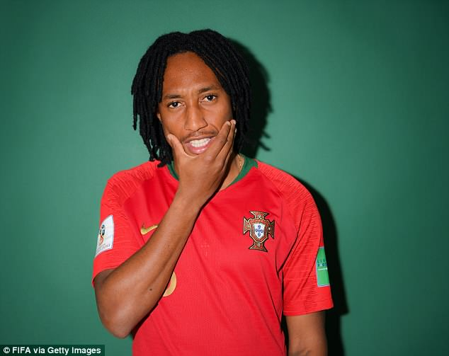 Portugal ace Gelson Martins took a more serious approach with his poses for the photoshoot