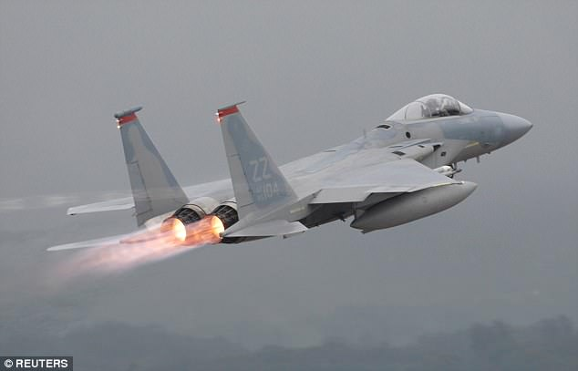 A US Air Force F-15 is seen in 2009 taking off at Kadena U.S. Air Force Base on Japan's southwestern island of Okinawa. A similar plane reportedly crashed there on Monday
