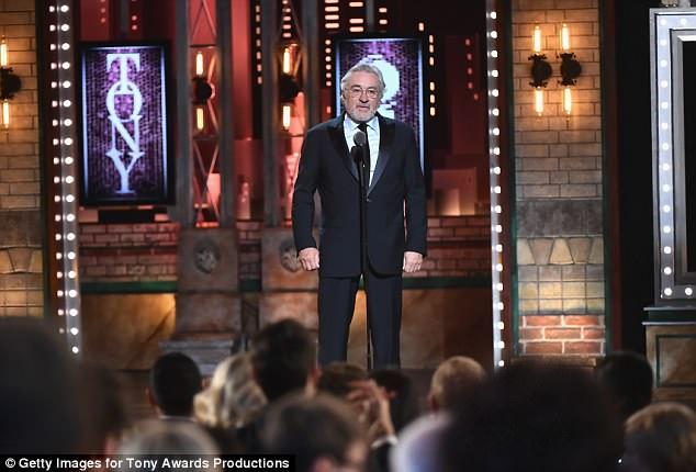 Robert DeNiro, 74, walked onto the stage at the Tony Awards and said 'F*** Trump'