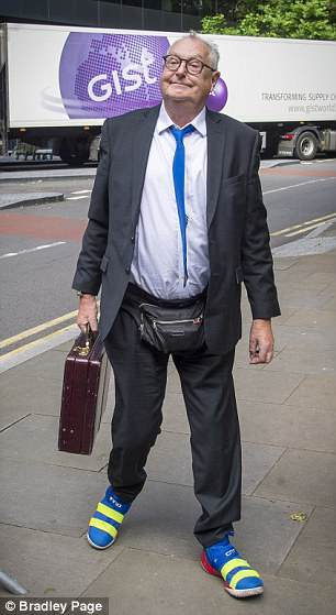 Former DJ Jonathan King arrives at Southwark Crown Court this morning ahead of his trial