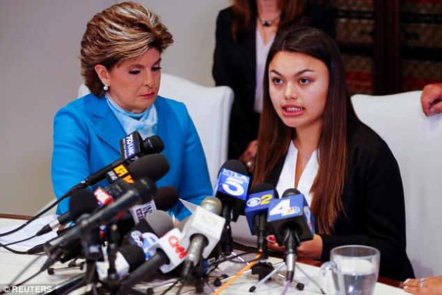 StudentDaniella Mohazab (pictured on the right with her attorney Gloria Allred) accused Tyndall of performing an exam without wearing gloves and making an inappropriate comment during a 2016 exam at his clinic