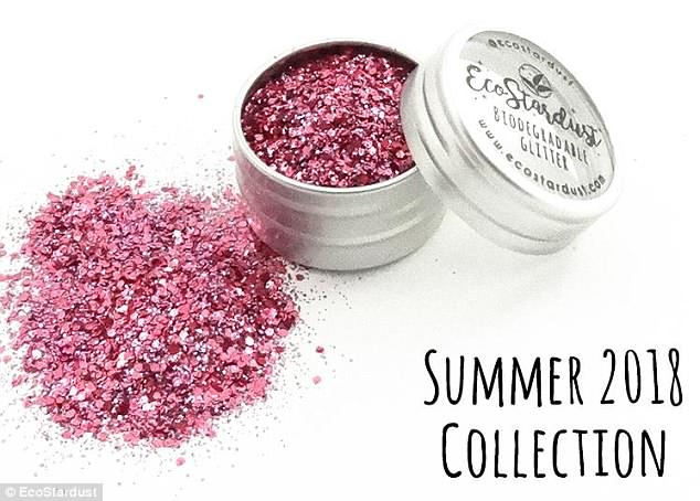 Earth friendly: EcoStardust provides its customers with an option to be glittered up with biodegradable glitter that won't have a leave a harmful footprint on the environment