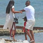 Idris Elba and fiancée Sabrina Dhowre soak up the sun in Ibiza