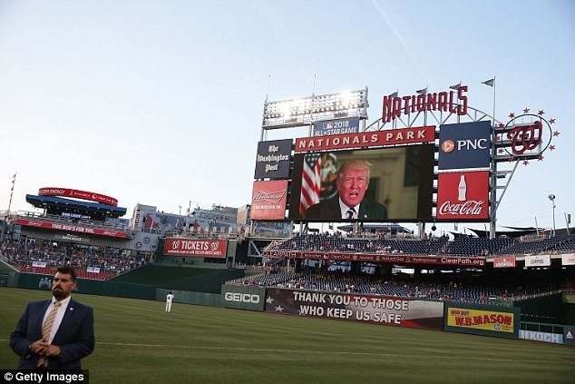 President Trump addressed the Congressional game last year