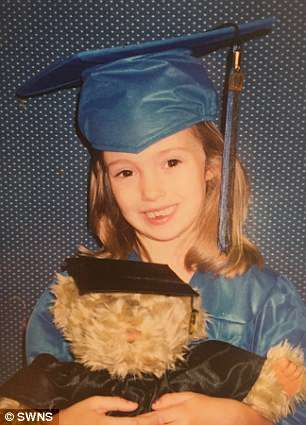 Doctors think Lauren's traumatic moment occurred in first or second grade