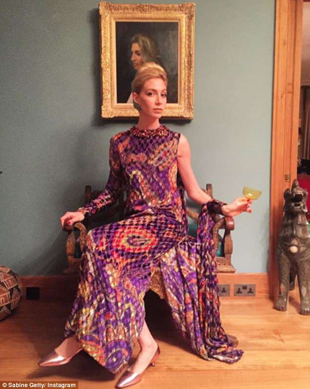 Socialite Sabine Getty, 33, is a jewellery designer who's regularly seen at glitzy fashion bashes