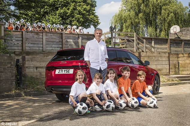 Manchester United boss Jose Mourinho returned to school for a Jaguar World Cup Q&A
