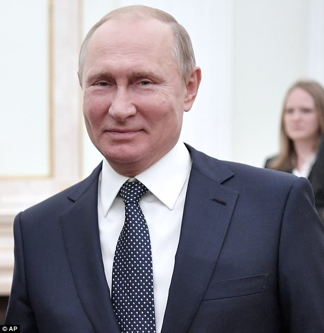 Putin (pictured yesterday in Moscow) has said Russian women CAN have sex with World Cup tourists if they wish